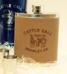 Cattle Call Flask - Rodeo Up Cattle Call Items