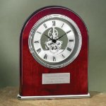 Arch Clock with Exposed Gears in Chrome Secretary Gift Awards